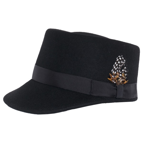 Shop Ferrecci Modern Conductor Train Engineer Hat with Feather ... 8523e3003df
