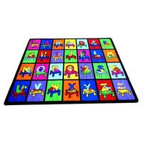 My ABC Place Multicolor Nylon Educational Play Area Rug - 5' x 8'