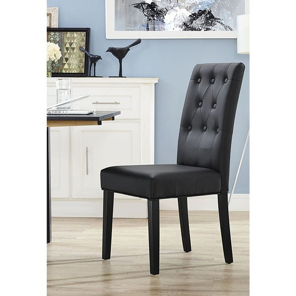 Dining Room Tables Denver: Shop Denver Button-Tufted Black Parson Dining Chair