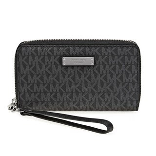Michael Kors Jet Set Item Large Black Signature Flat Multi Function Phone Case Wallet|https://ak1.ostkcdn.com/images/products/16589247/P22918799.jpg?_ostk_perf_=percv&impolicy=medium