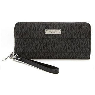Michael Kors Jet Set Black Signature Continental Travel Wallet|https://ak1.ostkcdn.com/images/products/16589256/P22918800.jpg?impolicy=medium