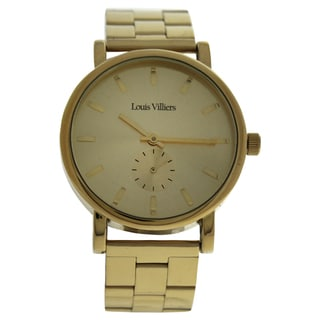 Louis Villiers LV2070 Gold Stainless Steel Men's Bracelet Watch