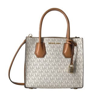 Michael Kors Studio Mercer Vanilla Signature Crossbody Handbag