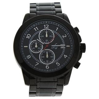 Louis Villiers LV1015 Black Stainless Steel Men's Bracelet Watch