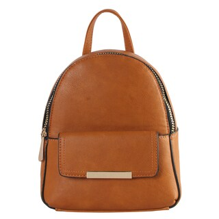 Diophy Front Flap Pocket Chic Mini Fashion Backpack (Option: Blue)