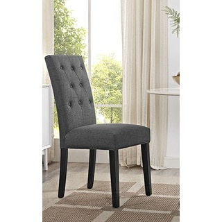 Denver Grey Fabric Upholstered Parson Dining Chair