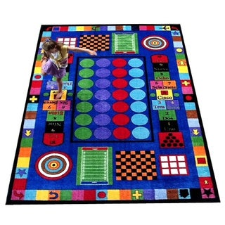 Game Time Tufted Nylon Children's Educational and Play Area Rug (5' x 8')