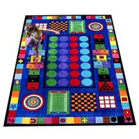 Game Time Tufted Nylon Children's Educational and Play Area Rug - 5' x 8'