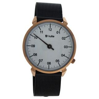 Kulte KU15-0017 3 Planets - Rose Gold/Black Stainless Steel Unisex Mesh Bracelet Watch