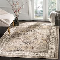Safavieh Atlas Traditional Oriental Viscose Silver/ Ivory Area Rug - 5'3 x 7'6