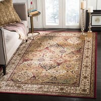 Safavieh Atlas Traditional Oriental Viscose Beige/ Ivory Area Rug - 6'7 x 9'6
