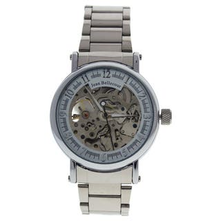 Jean Bellecour REDH1 Silver Stainless Steel Men's Bracelet Watch|https://ak1.ostkcdn.com/images/products/16589424/P22918903.jpg?impolicy=medium