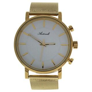 Antoneli AG6182-07 Gold Stainless Steel Men's Mesh Bracelet Watch
