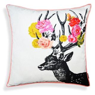 Safari Deer Print 20-inch Throw Pillow