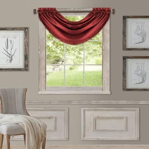 """Elrene Versailles Faux Silk Waterfall Window Valance - 52"""" w x 36"""" l"""