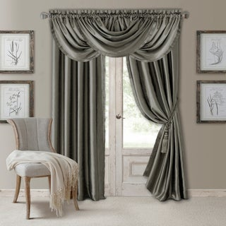 "Elrene Versailles Waterfall Formal Window Valance (Option: Grey - 52"" w x 36"" l)"
