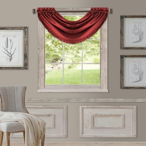 Elrene Versailles Faux Silk Waterfall Window Valance