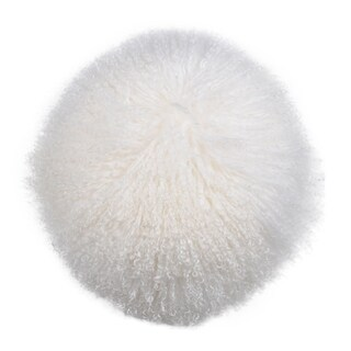 Gila Lamb White Fur 14-inch x 5-inch Throw Pillow