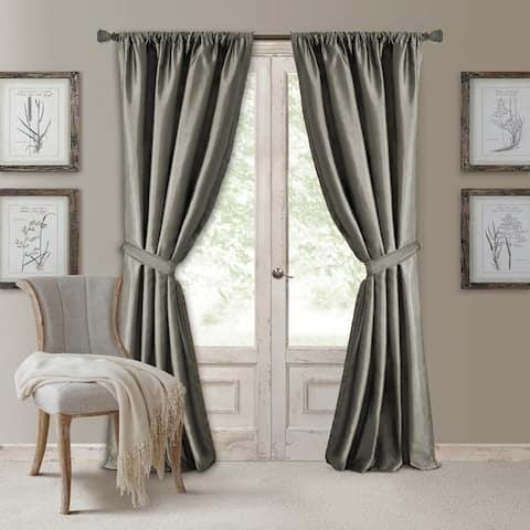 Elrene Versailles Pleated Blackout Curtain Panel