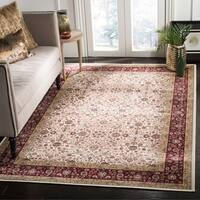 Safavieh Atlas Traditional Oriental Viscose Ivory/ Red Area Rug - 5'3 X 7'6