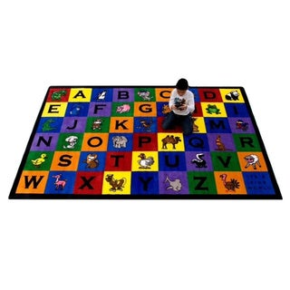 Kids World Charlie and Friends Multicolored Nylon Tufted Children's Area Rug (6'x9')