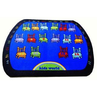 Kids World 16 Chairs Machine-tufted Area Rug (6'6 x 8'4)