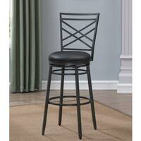 Elden Grey Metal and Leather Counter-height Stool