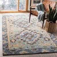 Safavieh Aspen Southwestern Geometric Hand-Tufted Wool Blue/ Beige Area Rug (5' x 8')