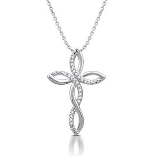 Diamond Accent Cross Pendant in Sterling Silver (I-J, I3)