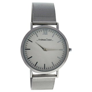 Andreas Osten AO-131 Distrig - Silver Stainless Steel Mesh Unisex Bracelet Watch