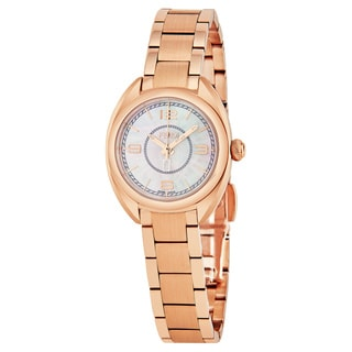 Fendi Women's F218524500 'Momento' Mother of Pearl Dial Rose Goldtone Stainless Steel Swiss Quartz Watch
