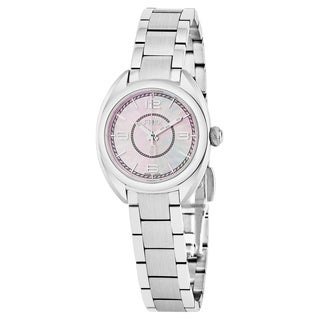 Fendi Women's F218027500 'Momento' Pink Mother of Pearl Dial Stainless Steel Swiss Quartz Watch