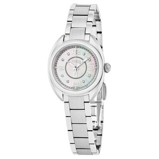 Fendi Women's F218024500D1 'Momento' Mother of Pearl Diamond Dial Stainless Steel Swiss Quartz Watch