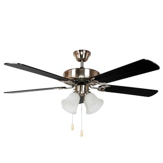 Y-Decor Harli Brushed Nickel Metal 5-blades Ceiling Fan