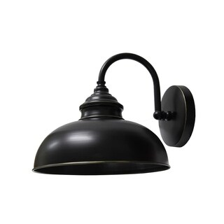 Y-Decor 1 Light Outdoor Wall Mounted Lighting In Imperial Black Finish