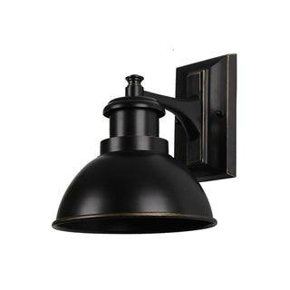 Y-Decor 1 Light Outdoor Wall Mounted Light In Imperial Black Finish