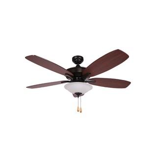 Y-Decor Alexis Matte Black 5-blades Ceiling Fan