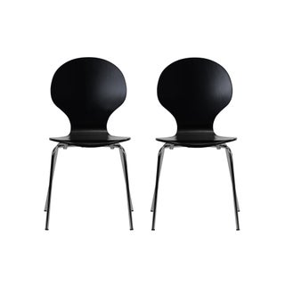 Novogratz Bentwood Shell Dining Chair (Set of 2) (4 options available)