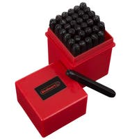 Letter and Number Steel Punch Stamp Set, with 36-piece Stamping Punch, and Die Plastic Storage Case by Stalwart