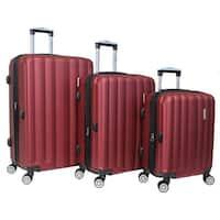 World Traveler 3-piece Lightweight Hard-sided Spinner Luggage Set with TSA Locks