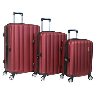 World Traveler 3-piece Lightweight Hard-sided Spinner Luggage Set with TSA Locks