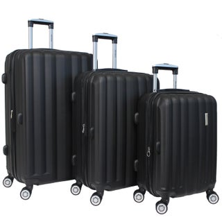 World Traveler 3-piece Lightweight Hard-sided Spinner Luggage Set with TSA Locks (5 options available)
