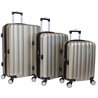 World Traveler 3-piece Lightweight Spinner Luggage Set with TSA Locks