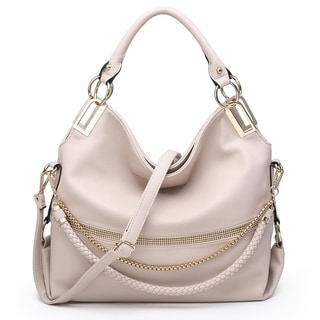 Dasein Gold-Tone Quilted Trendy Hobo Bag with Multi Shoulder Straps