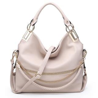 Dasein Gold-Tone Quilted Trendy Hobo Bag with Multi Shoulder Straps|https://ak1.ostkcdn.com/images/products/16591752/P22920979.jpg?impolicy=medium