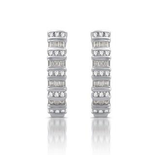 1/2 CTTW Diamond Cascading Hoop Earrings In Sterling Silver (I-J, I3)
