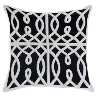Black/White Geometric Print Cotton 14 x 20 Throw Pillow
