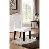 Milton Nailhead Trim White Parson Dining Chair