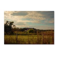 Jai Johnson 'Rusty Barn At Sunset' Canvas Art
