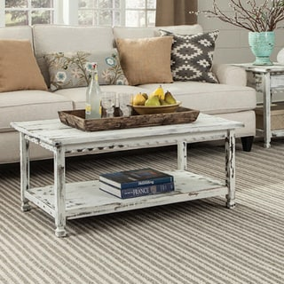 Alaterre Country Cottage Wooden 42-inch Long Coffee Table